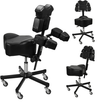 Patented InkStool™ Fully Adjustable Ergonomic Artist Technician Work Stool