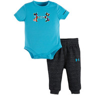 Under Armour® Meridian Blue Onesie Set