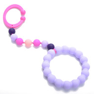 Violet Baby Chewbeads Gramercy Stroller Toy/Car Seat Attachment