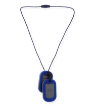 Blue JUNIORBEADS Dog Tag