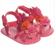 Pink and Orange Flower Sandals