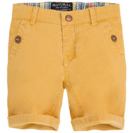 Yellow Cuffed Shorts