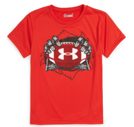 Under Armour® Risk Red Football Tee