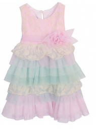 Baby Girls Pink Perfectly Post Empire Waist Dress