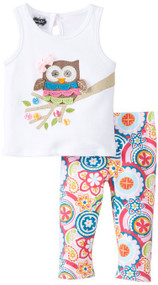 Owl Tank Top and Leggings Set