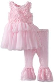 Rosette Lace Tunic and Leggings Set