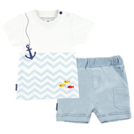Chevron Tiny Sailor Shirt + Short Set