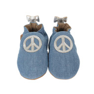Peace Out Baby Soft Sole Baby Shoe