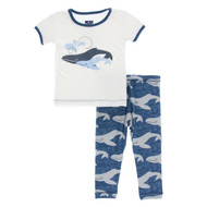 Short Sleeve Pajama Set in Twilight Whale