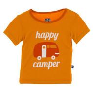 Short Sleeve Pajama Tee in Happy Camper