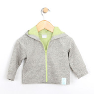 Grey French Terry Knit Jacket