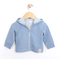 Blue French Terry Knit Jacket