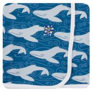 Swaddling Blanket in Twilight Whale