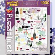 """Wine, Vino, Vin""  Something's Amiss Jigsaw Puzzle - 1000 piece"