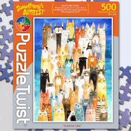 """Colorful Cats"" Something's Amiss Jigsaw Puzzle - 500 piece"
