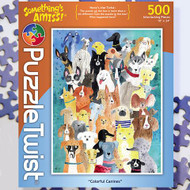 """Colorful Canines"" Something's Amiss Jigsaw Puzzle - 500 piece"