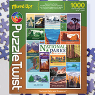 Influenced by nostalgic art Steve Thomas has an illustration style that transcends generations.  His art will have you reminiscing past family vacations to the national parks and planning your next one.  We hope you enjoy piecing together this colorful, scrambled road trip of our national parks and treasures.