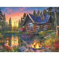 Sun Kissed Cabin Jigsaw Puzzle - 500 piece