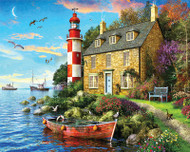 The Cottage Lighthouse Jigsaw Puzzle - 1000 piece