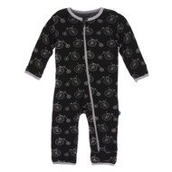 Print Coverall with Zipper in Boy Midnight Bikes