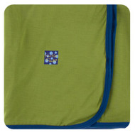 Swaddling Blanket in Grasshopper with Navy