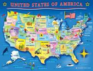USA Map Jigsaw Puzzle - 60 piece