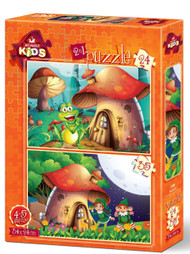 Mushroom House 2 in 1 Jigsaw Puzzle - 24 & 35 piece puzzles