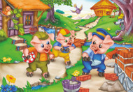Three Little Pigs Jigsaw Puzzle - 35 piece