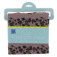 Print Fitted Crib Sheet in Raisin Grape Vines