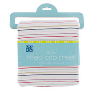 Print Fitted Crib Sheet in Everyday Heroes Multi Stripe