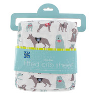 Print Fitted Crib Sheet in Natural Canine First Responders