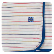 Print Swaddling Blanket in Everyday Heroes Multi Stripe