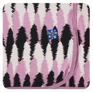 Print Swaddling Blanket in Midnight Forestry