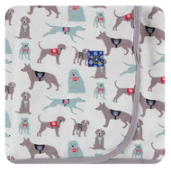 Print Swaddling Blanket in Natural Canine First Responders