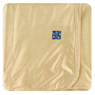 Solid Swaddling Blanket in Rich Gold