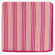 Print Knitted Toddler Blanket in Forest Fruit Stripe