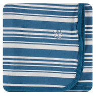 Print Swaddle Blanket in Fishing Stripe