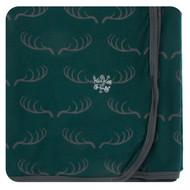 Print Swaddle Blanket in Pine Deer Rack