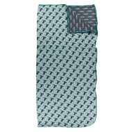 Print Quilted Sleepover Bag in Jade Mallard Duck/Stone Rainbow Trout