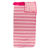Print Quilted Ruffle Sleepover Bag in Forest Fruit Stripe/Strawberry Forest Rabbit