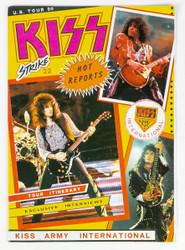 KISS Magazine - KISS Strike Fanzine #22, November 1990, US Tour '90