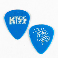 KISS Guitar Pick - Peter Criss white on blue, retail
