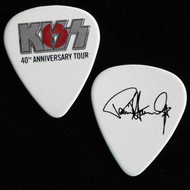 KISS Guitar Pick - 40th Anniversary Rising Sun, Silver Logo, Japan, Paul