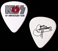 KISS Guitar Pick - 40th Anniversary Rising Sun, Silver Logo, Japan, Gene.