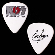 KISS Guitar Pick - 40th Anniversary Rising Sun, Silver Logo, Japan, Eric.