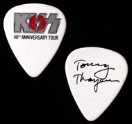 KISS Guitar Pick - 40th Anniversary Rising Sun, Silver Logo, Japan, Tommy.