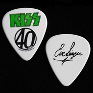 KISS Guitar Pick -  40 Years, Decades of Decibels, Green Logo,  Eric