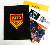 KISS Army Fan Club Kit, Pre-Destroyer era Jan/Feb 1976, w/poster