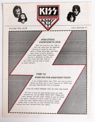 KISS Army Newsletter - Volume Two, NO.2, Fall 1977