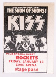 KISS Backstage Pass - Alive II Civic Arena, (reproduction)